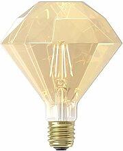 Calex Diamantlampe, Glas, 4 W, Gold,