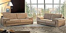 Calia Maddalena–Arca Sofa, Microfiber Fabric Sand, 4 Seater - 280x92x92cm