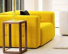 Calia Maddalena–Sofa Design Compact 2 Sitze Pelle Giallo