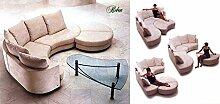 Calia Maddalena–Sofa Design Roben Leder Buffalo Versione D - 280x260x90 cm Pelle Buffalo Nero