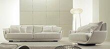 Calia Maddalena–Sofa Design Venezia aus Mikrofaser 3 Sitze Tessuto Microfibra Arangione