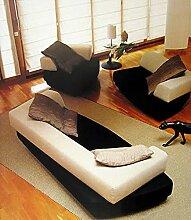 Calia Maddalena–Sofa Design Verona aus Mikrofaser 2 Sitze Tessuto Microfibra Blucielo Chiaro