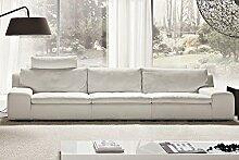 Calia Maddalena–Sofa Home, Cuir Fleur Corrigée Jeune, Canapé - 135cm