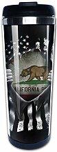 California Historic Becher mit Bär-Flagge,