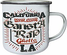 California LA RAP Retro, Zinn, Emaille 10oz/280ml