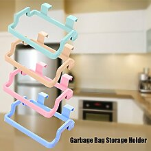calistouk Küche Supplies Multifunktionaler Schrank Aufhängen Refuse Tasche Kleiderbügel Tür Rücken Reinigungstuch Handtuch Aufbewahrung Halterung beige