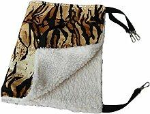 calistouk Retro Muster Lovely Cat Hängematte Pet zum Aufhängen Bett, 53x35cm & Tiger