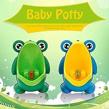 CALISTOUK Töpfchen in Froschform, inklusive Halterung, freistehend, Baby- und Kindertoilette, ideal für das Toilettentraining mit Ihren Kleinen Blue Stand