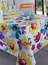 Calitex aquaflower Tischdecke rechteckig Polyester Mehrfarbig 240x 150cm