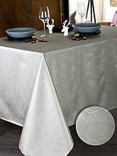 Calitex BOMY 3372360511012Tischdecke rechteckig Polyester Silber