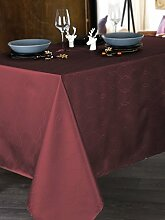 Calitex BOMY Tischdecke rechteckig Polyester Bordeaux 150x 250
