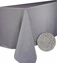 CALITEX Brom Tischdecke rund Polyester Grau Rund