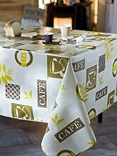 CALITEX Cafe Korsika Tischdecke PVC beige, PVC,