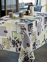 CALITEX Cafe Tischdecke rechteckig Polyester Schokolade 250x 150cm