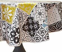Calitex Ceramique Tischdecke, Wachstuch, rund, 140