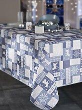 CALITEX cervides Tischdecke rechteckig Polyester blau 150x 240cm