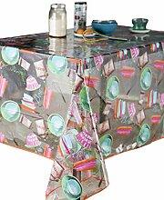 Calitex Cuisine Aquarelle Tischdecke, transparent,