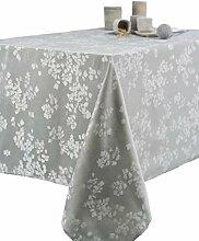 CALITEX Damast-Tischdecke, beschichtet mit Blumen,