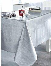 Calitex Effekt Tissage Tischdecke PVC silber 250x 140cm