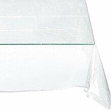Calitex Glitter Tischdecke PVC silber 200x 140cm