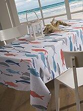 CALITEX Heringe Tischdecke rechteckig Polyester Mehrfarbig 150x 300cm