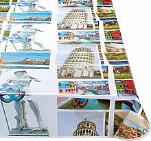 Calitex Italia Tischdecke PVC, mehrfarbig, PVC, mehrfarbig, 200x140 cm