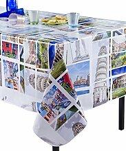 Calitex Italia Tischdecke PVC, mehrfarbig, PVC, mehrfarbig, 250x140 cm