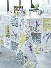 CALITEX kariert Provence Tischdecke Transparent