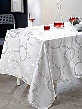 Calitex Koldo 3372360510022Tischdecke rechteckig Polyester Weiß