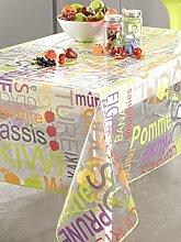 CALITEX Konfitüre Tischdecke Transparent Rund