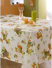 Calitex Korb von Obst Tischdecke PVC, mehrfarbig, PVC, mehrfarbig, 140 x 140 cm