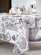 CALITEX Lovely Tischdecke rechteckig Polyester Grau 150x 300cm