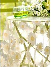 CALITEX Marvin Tischdecke PVC weiß, PVC, weiß, 200x140 cm