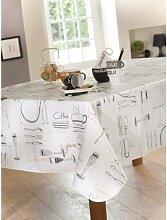 CALITEX Menü Tischdecke aus Wachstuch RUND PVC