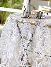 CALITEX Murphy Tischdecke PVC weiß, PVC, weiß, 200x140 cm