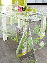 CALITEX Nature Bio Tischdecke Transparent Rund