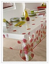 CALITEX Red Poppy Tischdecke PVC rot, PVC, rot, 200x140 cm