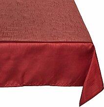 Calitex Seideneffekt Tischdecke Polyester Bordeaux 250x 150cm
