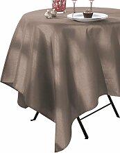 CALITEX Seideneffekt Tischdecke Polyester Taupe