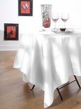 Calitex Seideneffekt Tischdecke Polyester Weiß 240x 180cm