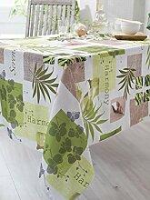 Calitex Serenity Tischdecke rechteckig Polyester Grün 150x 250cm