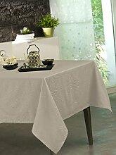 CALITEX Stacy Tischdecke Polyester Grau Perle