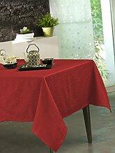 Calitex Stacy Tischdecke Polyester Rot 300x 150cm