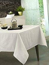 Calitex Stacy Tischdecke Polyester Weiß 180x 180cm