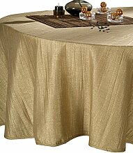CALITEX Taft Plisse Tischdecke Polyester Gold