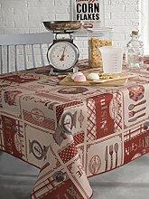 Calitex Theresa Tischdecke rechteckig Polyester Rot 150x 250cm