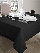 CALITEX Tischdecke Damassee Band Satin schwarz