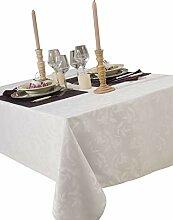 CALITEX Tischdecke Damast Ombra weiß rund 180