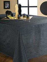 CALITEX Tischdecke Seideneffekt schwarz 150x 300
