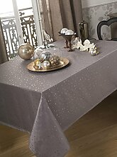 Calitex Tischdecke Stars silber 150x 250